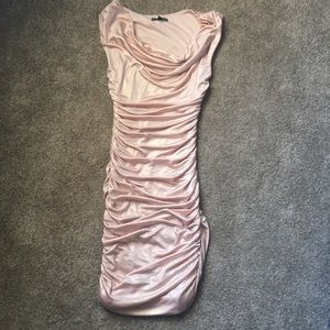 Express ruched shimmery dress